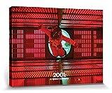 1art1 107011 2001: Odyssee Im Weltraum - Logic Memory Center Poster Leinwandbild auf Keilrahmen 80 x 60 cm