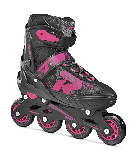 Roces Kinder Jokey 2.0 Girl Inliner, Black-pink, 30-33