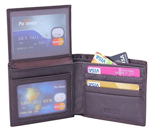GUSTT Männer Royal RFID Blocking Leder Geldbörsen Bifold Wallet (G09) G01