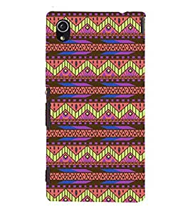 printtech Ethnic Tribal Pattern Back Case Cover for Sony Xperia M4 Aqua Dual