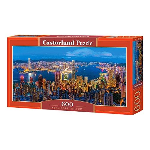 Castorland Hong Kong Twilight 600 pcs Puzzle - Rompecabezas (Puzzle Rompecabezas, Ciudad, Niños y Adultos, Niño/niña, 9 año(s), Interior)