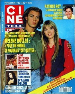 CINE TELE REVUE [No 10] du 11/03/1992 - PATRICK ROY - HELENE ROLLES - CLINT EASTWOOD - FRANCESCA - ALAIN DELON - LES SECTES QUI TUENT.
