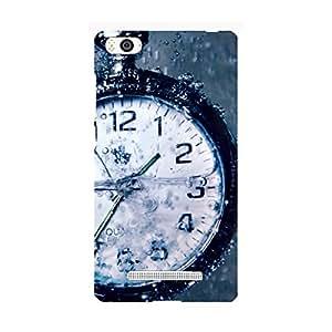Clapcart Clock Printed Mobile Back Cover Case For Xiaomi Mi4i -Multicolor