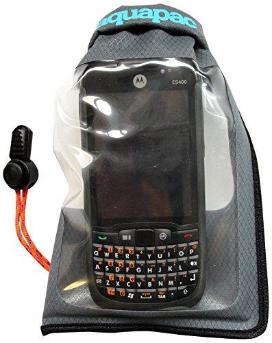 Aquapac wasserdichte Tasche für Handy/Smartphone (grau, klein, IPX6)