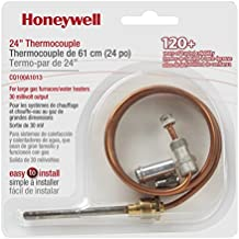 Honeywell CQ100A1013 Replacement Thermocouple for Gas Furnaces, Boilers and Water Heaters