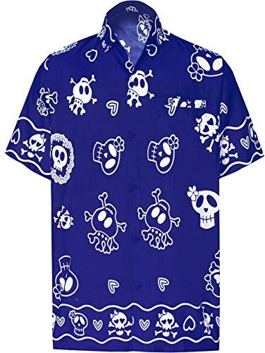 LA LEELA Casual Camisa Hombre Hawaiana Manga Corta