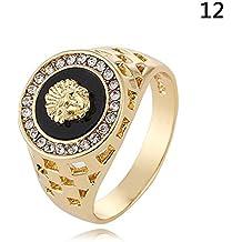 anillos hombre oro - Envío internacional elegible - Amazon.es