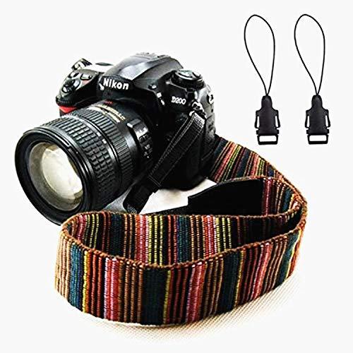 Wanby Kamera Weiche Böhmen Schulter Hals Universal Camcorder Gurtband Vintage Antislip Gürtel für alle DSLR Kamera Canon Nikon Sony Pentax Fujifilm Colorful(Mehrfarbig)
