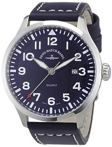 Zeno Watch Basel 6569-515Q-a4 - Reloj analógico de cuarzo para hombre con correa de piel, color negro de Zeno Watch Basel