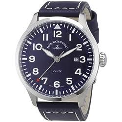Zeno Watch Basel Herren-Armbanduhr XL Quarz Analog Leder 6569-515Q-a4