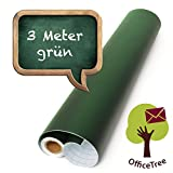 OfficeTree ® Tafelfolie grün 300 cm Rolle - selbstklebend -