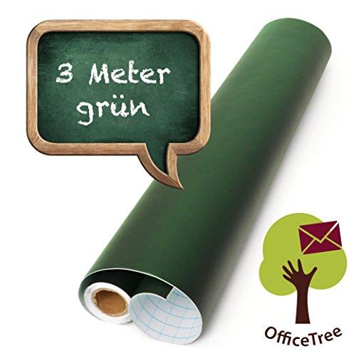 OfficeTree ® Tafelfolie grün 300 cm Rolle - selbstklebend - 43 cm breit - Chalkboard - Schreiben...