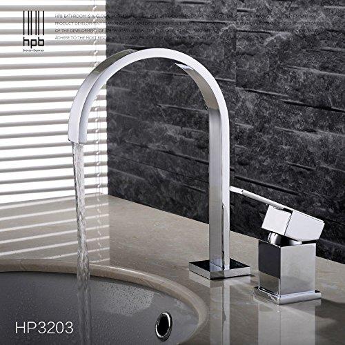 Maifeini P Im Vergleich Chrom Poliert - Große Badezimmer Waschbecken Armaturen Messing Deck Ist An Den Beiden Griffen Kühlkörper Mischbatterie Installiert Zu Erhöhen.