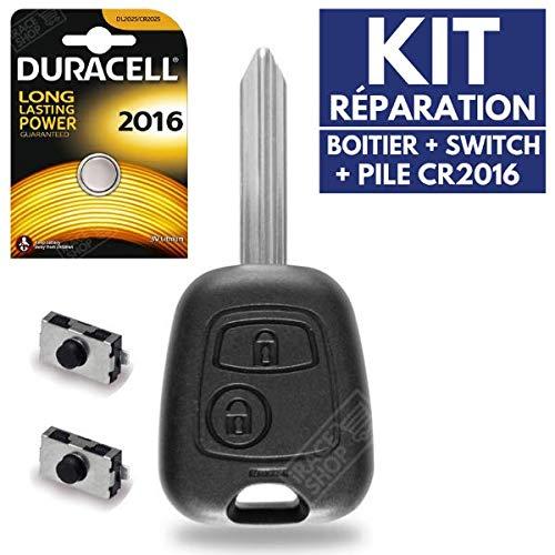 Caja llave–Carcasa mando distancia Plip Citroen