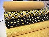 Qjutie Lottashaus No70 Jersey Stoffpaket 4 Stück 50x70cm Senf Ocker Ockergelb Schafe Schaf Baumwolljersey mit Bündchen Schlauchware Kinder Kleidung Stoffe