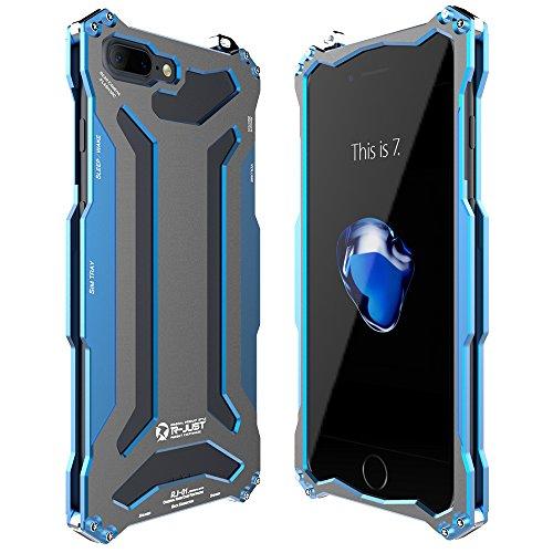 GIM iPhone 7 Plus Telefono Cover, Ultra Sottile Custodia protettiva con Alluminio Metallo Resistente e Robusta Case Cover per Apple iPhone 7 Plus 5.5 pollice Smartphone (Nero) Blu
