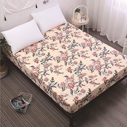 SUYUN Antiallergischer Matratzenbezug mit Reißverschluss, wasserdichter und atmungsaktiver Matratzenbezug,Klassische Blume90 * 200 * 30cm