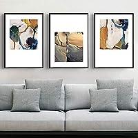 ZSHSCL Impresión De La Lona Pintura 3 Piezas Modernas Pinturas Abstractas De Lona Carteles E Impresiones