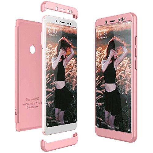 CE-Link für Xiaomi Redmi Note 5 Hülle Hardcase 3 in 1 Handyhülle 360 Ultra Dünn Slim Schutz Hard Schutzhülle Bumper - Rose Gold