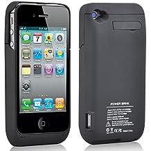 TRIXES Funda con cargador con batería 3000 mAh para iPhone 4 4S