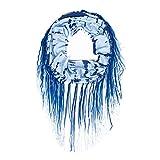 WGJY Bavoir Pompon Décoration Sweat Coton Impression Doux Confortable Bleu Noir Jaune Collier,01