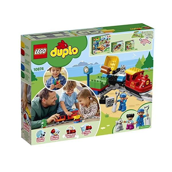 LEGO - DUPLO Treno a Vapore con Locomotiva Push And Go e 5 Mattoncini Multifunzione, Set di Costruzioni per Bambini dai… 2 spesavip