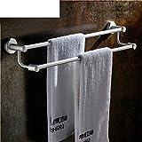 ZXS Raum aluminium bad handtuchhalter,handtuchregal,badewanne mit doppelter handtuch-bar,bad-hardware-zubehör-A