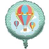 """1 Folien-Luftballon aus der Serie """"Up, Up & Away"""" für Heißluftballons- und Reise-Partys"""