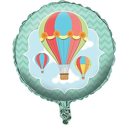 "Creative Converting Up, Up & Away Round Metallic Balloon, 18"""