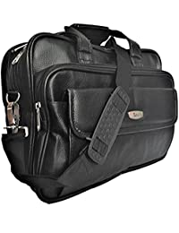 Trajectory ROYAL Multiple Compartments Office Laptop Bag In Elegant Black Look