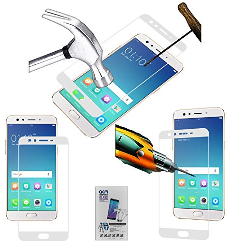 Acm White Tempered Glass Screenguard Compatible with Oppo F3 Selfie Expert Mobile Screenguard Screen Guard Scratch Protector