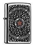 Zippo 2.005.043 Mechero con diseño de calavera de pentagrama Collection Spring 2016, de alto brillo cromado
