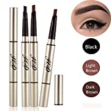 3 Farben Augenbrauenstift/Brauenstifte, Automatisch Wasserdicht EyeBrow Pencil, CIDBEST® Make Up Stift Eyeline Augenbrauenstift, Long Lasting Augenbraue Stift