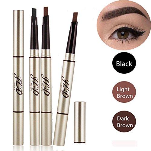 3 Farben Augenbrauenstift/Brauenstifte, Automatisch Wasserdicht EyeBrow Pencil, CIDBEST Make Up Stift Eyeline Augenbrauenstift, Long Lasting Augenbraue Stift
