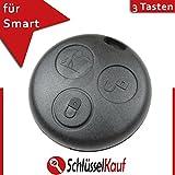 Smart Schlüssel Gehäuse 3 Tasten Fernbedienung Ersatz ForTwo Gummi Auto Neu
