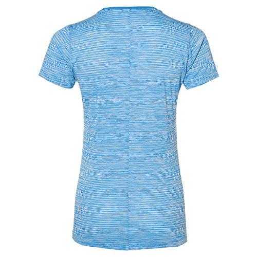 asics t shirt femme bleu