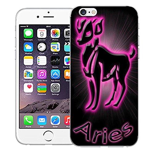 """Mobile Case Mate iPhone 6 4.7"""" inch clip on Dur Coque couverture case cover Pare-chocs - Rose aries Motif pink aries"""