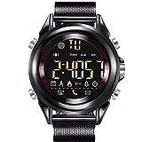Rojeam Herren Wasserdichte Sport Bluetooth Smart Watch für Android IOS(Schwarz)