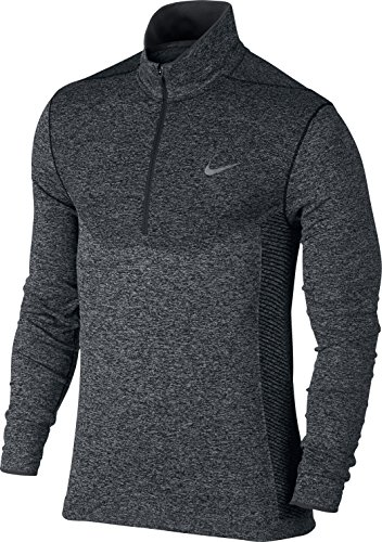 Nike Lightweight Pullover (Nike Golf Dri-Fit Knit 1/2-Zip Herren Shirt XL Schwarz/silberfarben)