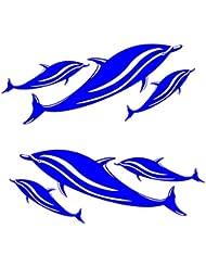 MagiDeal Pegatinas de Vinilos de Vinilo de 2 Piezas para Kayak Barco de Azul