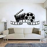 ONETOTOP Retro Film Art Cinema Film Adesivi murali Film Murale Poster Vintage Vinile Adesivo Camera da Letto Ornamento per la casa Teatro Domestico 76x42cm