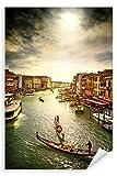 Postereck - Poster 0780 - Venedig, Gondeln Boote Meer Fluss