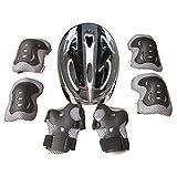 15000P pequeño equipo de protección para niños Set con casco de protección Rodilleras Coderas muñeca Protección para patines en línea Skateboarding, color Negro, tamaño 30 x 20 x 10 cm