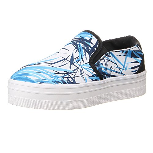 Freizeitschuhe Blau Sneakers Farbige Schuhe Damen 41 Plateau 36 RSq5w8w