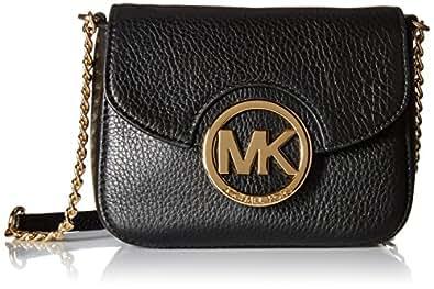 9a10d4ea6342 Michael Kors Fulton Small Cross-Body Bag Black: Amazon.co.uk: Shoes ...