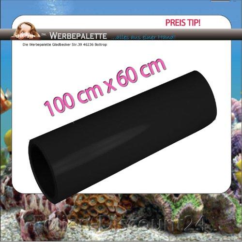 (EUR 7,42 / Quadratmeter) Rückwandfolie Aquarium Folie Terrarium Schwarz 100 cm x60 cm TOP ! Preistip !