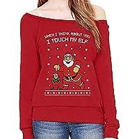 Hanomes Damen pullover, Weihnachten Frauen Print Langarm Off Schulter Sweatshirt Pullover Bluse Shirt preisvergleich bei billige-tabletten.eu