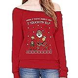 Innerternet Weihnachtspullover Heißer Einzigartiges Design Mode Damen Frauen Frohe Weihnachten Weihnachtsbaum Druck Tops Rundhals Casual Sweatshirt Bluse
