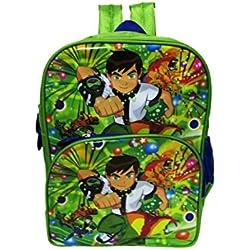 Ben 10 waterproof school bag waterproof green/multicolor eh307