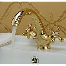 Rubinetto bagno oro - Lavabo bagno colore champagne ...